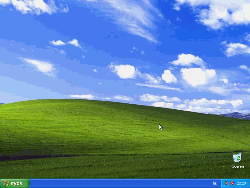 Установка Windows XP с флешки завершена