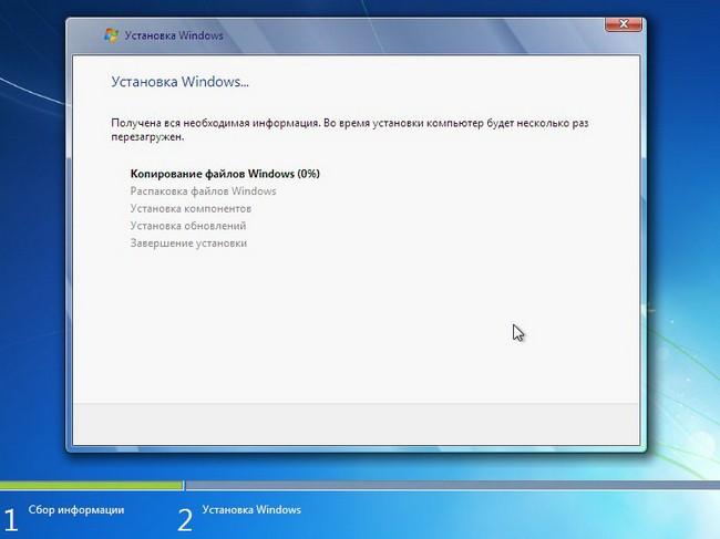 Копирование файлов Windows