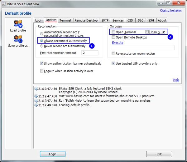 Bitvise SSH Client, обход блокировки сайтов