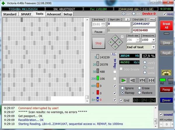Программа проверки жестких дисков Victoria